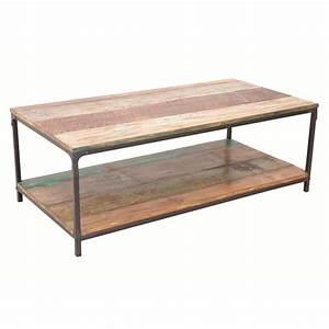 Table Basse Fer Et Bois : table rabattable cuisine paris table basse fer et bois ~ Teatrodelosmanantiales.com Idées de Décoration