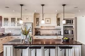 Photos Of Kitchens With Pendant Lights by My Houzz Custom Transitional Home With Ocean View Transitional Kitchen