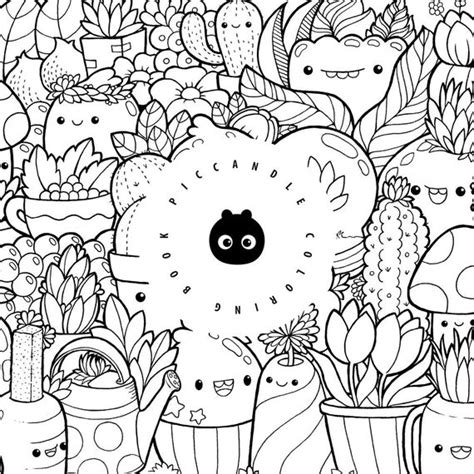 pic candle doodle coloring book inktober kawaii