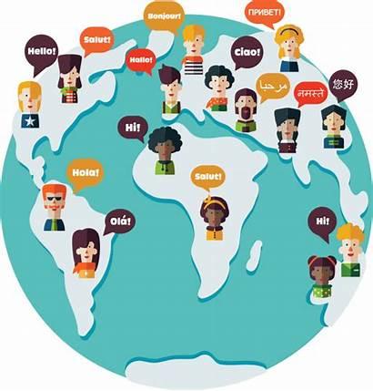 Language Transparent Foreign Languages Different Cartoon Above
