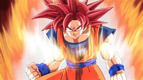 super saiyan god  gave  red aura youtube