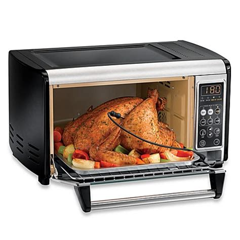 toaster bed bath and beyond hamilton 174 6 slice set and forget toaster oven bed
