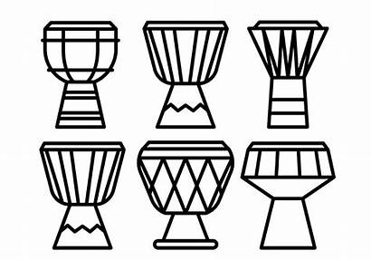 Djembe Vector Icons Clipart Graphics Edit