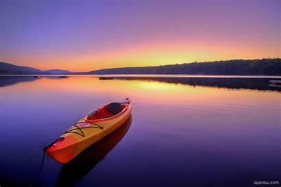 Kayak Lake River Boat Sunrise Summer Landscape