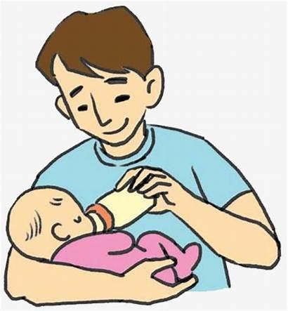 Daddy Dad Cartoon Clipart Clip Father Dady