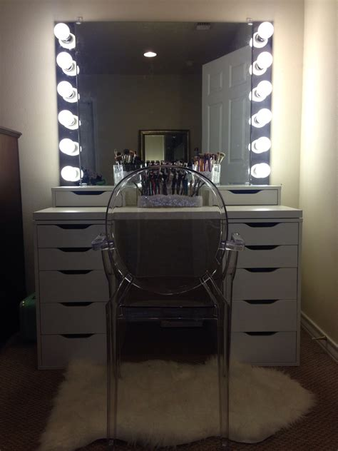makeup vanity with lights ikea diy vanity mirror with lights for bathroom and makeup