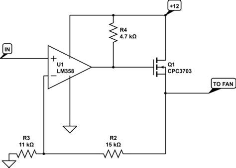 Mosfet Linear Control Fan With Low Current