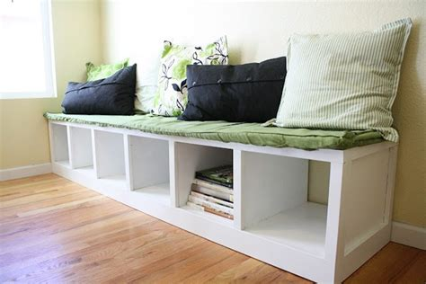 Diy Storage Bench For A Kitchen Table