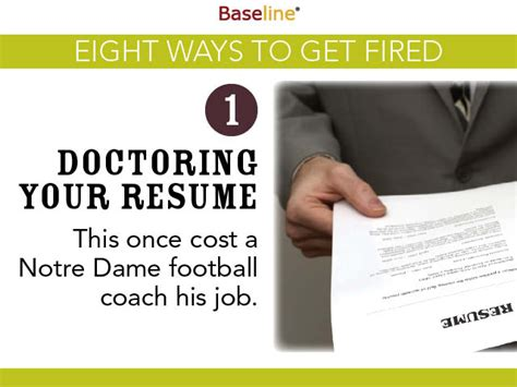 Fired From Internship Resume by Eight Ways To Get Fired Business Intelligence News Reviews Baseline