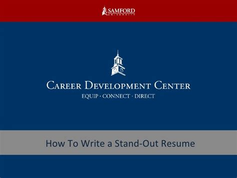 how to write a stand out resume