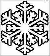 Coloring Pages Winter Snowflake Printable Christmas Easy Simple Preschoolers sketch template