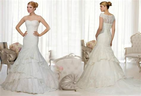 Vintage 2015 Lace Wedding Dresses With Wrap Mermaid Tiers
