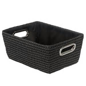 Black Vanity Bathroom Ideas Wenko Chromo Rectangular Bathroom Storage Basket Black 20375100 At Plumbing Uk
