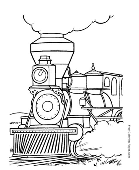 kids train coloring pages  print