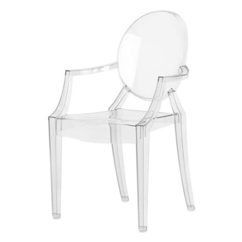 fauteuil louis ghost kartell cristal idees fr