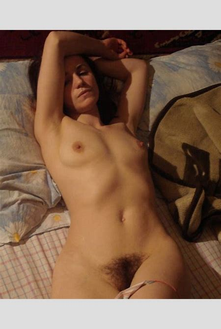 Lovely amateur milf with small tits and very hairy pussy in bed | Russian Sexy Girls