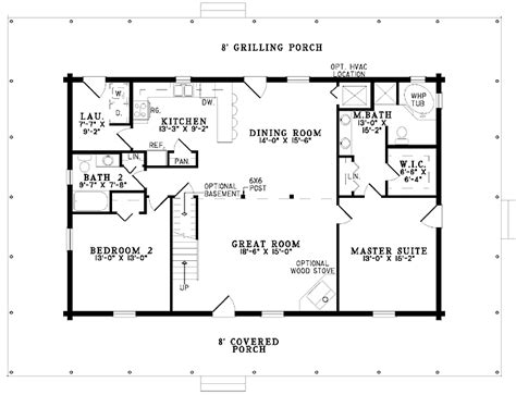 One Story Four Bedroom House Plans by Gallery For Gt Simple One Story 2 Bedroom House Plans 1320