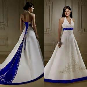 royal blue and white wedding dresses white and blue wedding dresses naf dresses