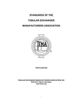 Standards of the Tubular Exchanger Manufacturers