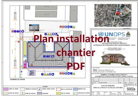 bureau d étude électricité exemple de plan d 39 installation de chantier pdf outils