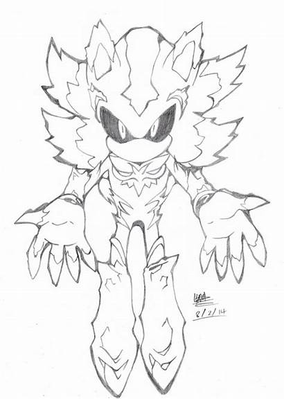 Mephiles Sonic Hedgehog Deviantart Coloring Pages Dark
