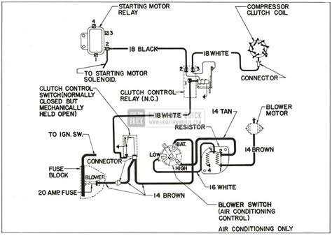 Conditioning Air Conditioner Wiring Diagram by 1959 Buick Heater And Air Conditioner Hometown Buick