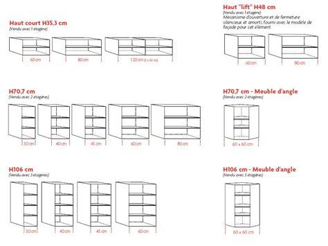dimension caisson cuisine hauteur plan de travail cuisine standard la hauteur