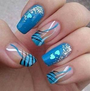 18 Creative Blue Nail Art Designs | World inside pictures
