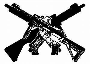 Gun clipart crossed - Pencil and in color gun clipart crossed