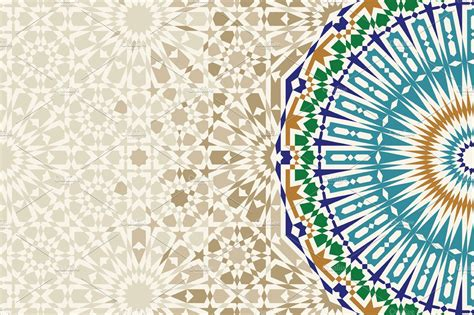template  morocco ornament card templates creative