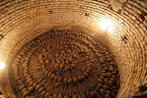 strangest places ossuaries  catacombs
