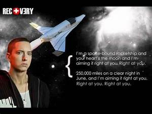 Eminem - Space Bound Instrumental with lyrics, hook and ...