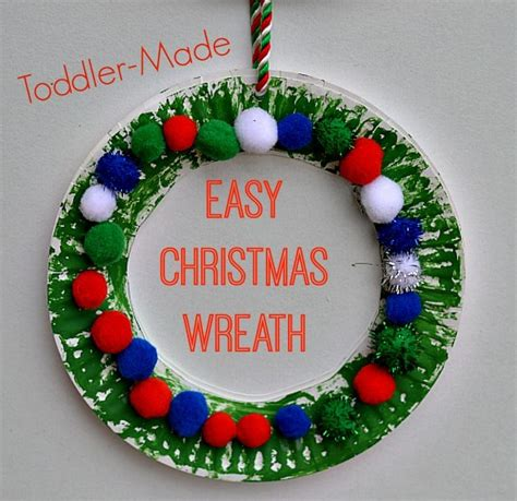 easy wreath for from me wreaths 802 | 57b965cc61cdf7d157e7006661deaafb toddler christmas crafts simple christmas