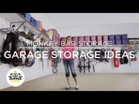 Garage Storage Bars by Garage Storage Ideas By Monkey Bar Storage