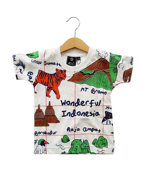Kaos Natgeo Wonderful Indonesia pep wonderful indonesia size 4 5t 8 9t
