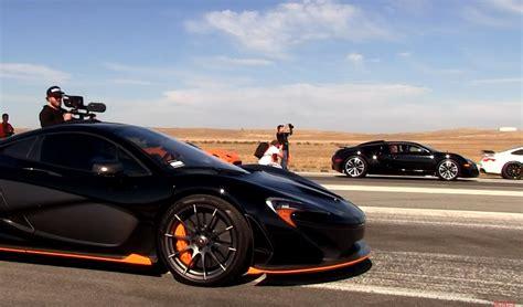 Bugatti Veyron Vs Mclaren P1 Drag Race At Shift-s3ctor