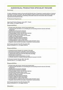 resume knowledge and skills sample audiovisual production specialist resume