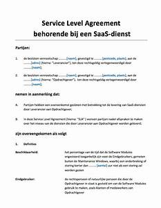 service level agreement sla saas diensten With saas service level agreement template