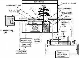 Schematic Diagram Of A Hydroponic System For On U2010line Measurement Of