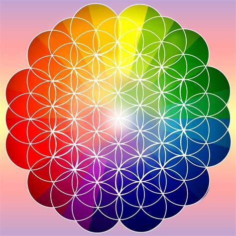 arc en ciel fleur de vie rainbow arc en ciel