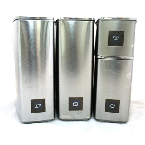 stainless steel kitchen canister set vintage stainless steel canister set kitchen
