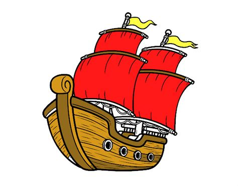 Dibujo Barco De Vela dibujo de barco de vela pintado por en dibujos net el d 237 a