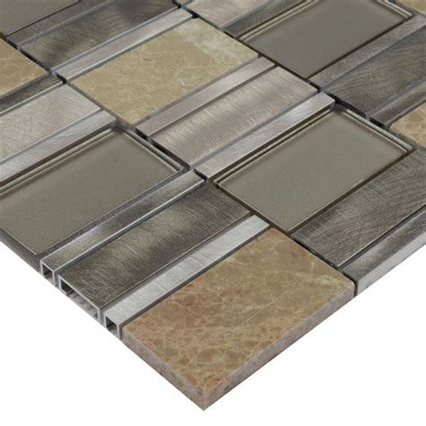 stainless steel tile glass mosaic tile stainless steel metal wall tiles