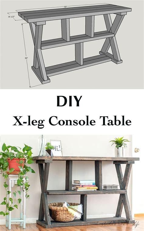 build  easy  leg console table   plans