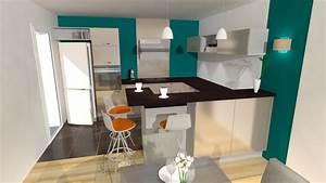 Cuisine noir mat et bois 5 cuisine en u beige et marron for Decoration pour jardin exterieur 5 cuisine quartz noir