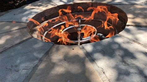 Outdoor Gas Fire Pit Repair-youtube