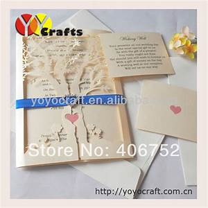 laser cut customized wedding invitations tree with insert With alibaba wedding invitations tree