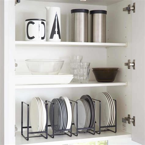 placard de rangement cuisine range assiette noir rangement vertical vaisselle