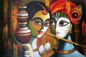 radha krishna paintings 22