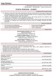 floral designer resume template resume sles for consulting services brilliant minds